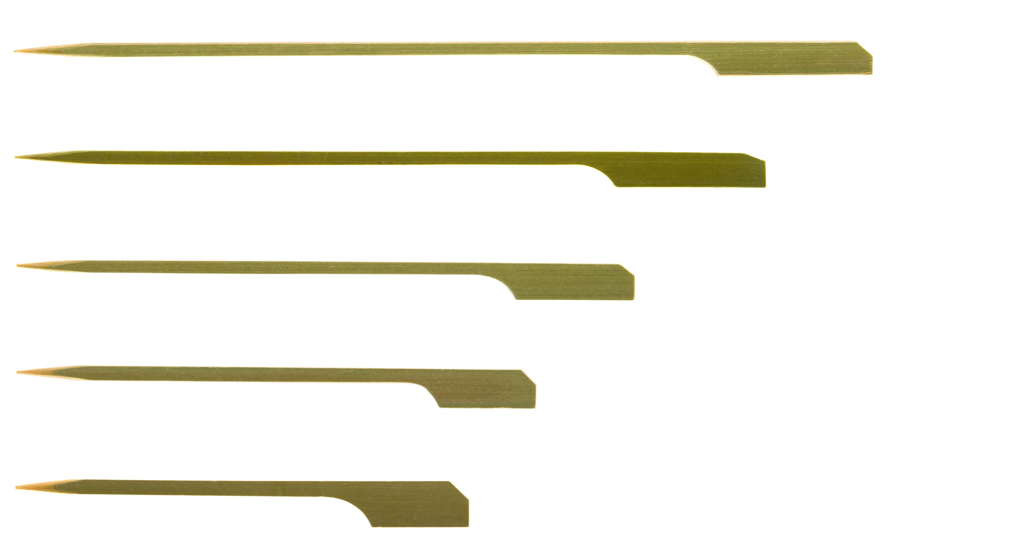 100 x 9cm Bamboo Teppo Gushi Gun Shaped Skewers